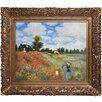 Tori Home Poppy Field in Argenteuil Monet Framed Original Painting