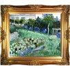 Tori Home The Garden of Daubigny by Van Gogh Framed Hand Painted Oil on Canvas