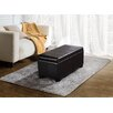 <strong>Simpli Home</strong> Dover Leather Storage Ottoman