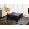 <strong>Simpli Home</strong> Dover Leather Coffee Table Ottoman