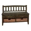 Simpli Home Williamsburg Wood Storage Entryway Bench with Drawers and Cubbies