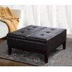 Simpli Home Dover Leather Coffee Table Ottoman
