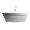 "Control Brand True Solid Surface Wave 70.88"" x 33.5"" Soaking Bathtub"
