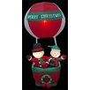 LB International Inflatable Hot Air Ballon with 2 Snowman Christmas Decoration