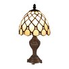 """Z-Lite Mini Tiffany 12"""" H Table Lamp with Bowl Shade"""