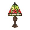"Z-Lite Mini Tiffany 12"" H Table Lamp with Empire Shade"