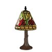 "Z-Lite Tiffany Billiard Mini Style 40 12"" H Table Lamp with Empire Shade"
