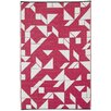 Fab Rugs World Santa Cruz Beetroot/White Indoor/Outdoor Area Rug