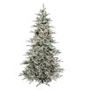 Regency International Flocked Vail 7.5' Green Artificial Christmas Tree with 750 Prestrung Clear Lights