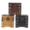 <strong>3 Colored Mini Chest (Set of 3)</strong> by Quickway Imports