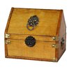 <strong>Small Pirate Chest with Lion Rings</strong> by Quickway Imports