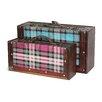 Quickway Imports 2 Piece Plaid Suitcase Set