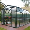 "Rion Greenhouses Grand Gardener 2 Twin Wall 7' 79"" H x 8' W x 8' D Polycarbonate 4 mm Greenhouse"