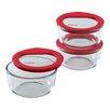Pyrex Premium Glass Lids Storage Container Set (Set of 3)