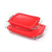 <strong>Pyrex</strong> Easy Grab 4 Piece Oblong Bakeware Set with Plastic Cover