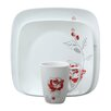 <strong>Corelle</strong> Square™ Blushing Rose 16 Piece Dinnerware Set