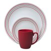 <strong>Livingware™ Holiday Stitch 16 Piece Dinnerware Set</strong> by Corelle
