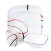 <strong>Square Fine Lines 16 Piece Dinnerware Set</strong> by Corelle