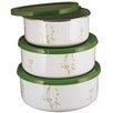 Corelle Corelle Coordinates 3 Piece Storage Bowl Set in Green