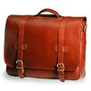 <strong>Clava Leather</strong> Bridle Executive Porthole Leather Laptop Briefcase