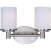 Back to Basics 2 Light Bath Vanity Light