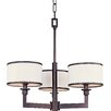 Banded 3 Light Mini Chandelier