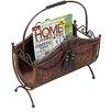 UMA Enterprises Toscana Wood and Metal Magazine Rack