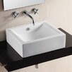 Ceramica II Vessel Bathroom Sink with Curved Basin