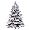 <strong>Vickerman Co.</strong> Flocked Alaskan 7.5' White Artificial Christmas Tree with 900 Multicolored Lights with Stand