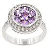 <strong>Kate Bissett</strong> Amethyst and Clear Cubic Zirconia Beijing Lily Ring