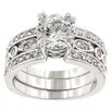 <strong>Kate Bissett</strong> Clear Cubic Zirconia Queen Anne Ring