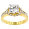 Kate Bissett Clear Cubic Zirconia Crushed Ring