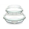 Kinetic Glasslock Plus 4 Piece Round Container Set with Sealed Lid