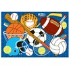 <strong>Fun Rugs</strong> Fun Time Let's Play-Blue Kids Rug