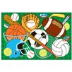 <strong>Fun Rugs</strong> Fun Time Let's Play-Green Kids Rug