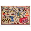 <strong>Fun Rugs</strong> Fun Time Fun Toolbox Kids Rug