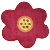<strong>Fun Rugs</strong> Fun Shape Medium Pile Flower Kids Rug