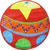 Fun Rugs Fun Shape High Pile Circus Ball Red Area Rug