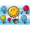 Fun Rugs Smiley World Hot Air Balloon Kids Rug
