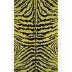 Fun Rugs Fun Time Yellow Zebra Skin Area Rug