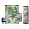 <strong>RV / Camping Mat, Blossom Green and Grey Reversible Mat</strong> by B. B. Begonia