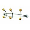 Paperflow Alco Triple Wall Coat Rack with 6 Wooden Pegs