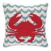 Peking Handicraft INC. Crabs in Waves Hook Pillow