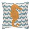 Peking Handicraft INC. Seahorse in Waves Hook Pillow