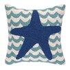 Peking Handicraft INC. Starfish in Waves Hook Pillow