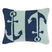Peking Handicraft INC. Double Colorway Anchors Hook Pillow