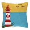Peking Handicraft INC. Lighthouse with Birds Hook Pillow