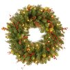 "National Tree Co. Pre-Lit 24"" Classical Wreath"