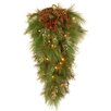 "National Tree Co. White Pine Pre-Lit 28"" Wall Teardrop"