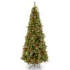 National Tree Co. Colonial 7.5' Green Slim Artificial Christmas Tree with 400 Clear Lights and Stand